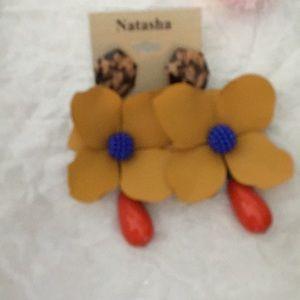 New Natasha 3D Floral Statement Earrings